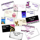 Personalised Large Colour Stickers/Address Labels 64x34 mm size. 24 per sheet