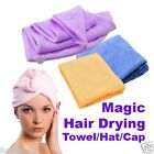 Magic Hair Drying Towel Hat Cap Microfibre Quick Dry Turban For Bath Shower Pool