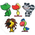 Kids Cute Animals Dinosaur Duck Raccoon Lion Iron Sew On Patch T Shirt Transfer