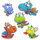 Kids Boys Cute Dragon Iron Sew On Patch T Shirt Transfer Embroidered Craft Motif