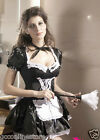 Sexy Midnight Maid Costume Outfit Black and White Fancy Dress