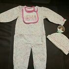 Carter's Child of Mine, 3 PC Outfit, Hat, Shirt, Legging Retail 19.00 NWT
