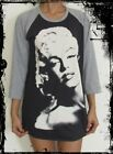 Unisex Marilyn Monroe Raglan 3/4 Length Sleeve Baseball T-Shirt Jumper Vest