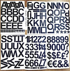6cm / 60mm Self Adhesive Vinyl Sticker Letters and numbers  -  25 Colour Choice