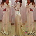 Women's Party Bodycon Evening Gown Cocktail Prom Bodycon Maxi Ladies Cream Dress