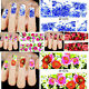60 Nail Wraps Nail Art Decals Water Transfers Lilac Pink Rose Y1410 - 6 Packs