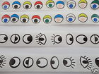 SELF ADHESIVE EYE STICKERS - 12MM - PEEL & STICK STICKY EYES - CRAFT CARD MAKING