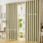 Deluxe Blockout Curtains 3 Layers Pure Fabric Blackout Room Darkening Latte AU
