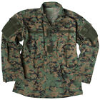 Teesar Tactical Military Uniform Top Mens ACU Army Cotton Shirt Digital Woodland