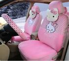 ** 18 Piece Baby Pink Polka Dot Hello Kitty Car Seat Covers **