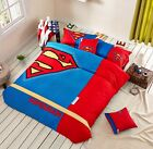 *** Superman Queen Bed Quilt Cover Set - Flat or Fitted Sheet ***
