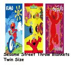 Sesame Street Elmo Plush Throw Blanket Twin/Full Size 60x80