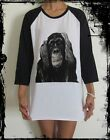Unisex Monkey Raglan 3/4 Length Sleeve Baseball T-Shirt (Vest Tank Jumper)