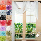 1PC 90x550cm Voile Sheer Window Scarf Eyelet Curtain Valance Window Decoration