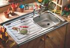 Contract Kitchen Sink Sit/Lay On Square Front 1.0 & Drainer 1000x500mm Or Tap
