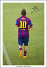 LIONEL MESSI SIGNED PHOTO POSTER PRINT 2015 BARCELONA #10 SUAREZ NEYMAR
