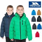 Trespass Tuff Boys Padded Jacket  with Hood in Green Red Black Grey & Blue