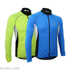 Arsuxeo Men Long Sleeve Jersey Bicycle Zippered Full Breathable Rear Pockets