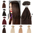 "AAA 50 Strands 0.5g Pre Bonded Nail U Tip Real Human Hair Extensions 18"" 20"""