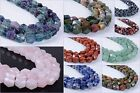 10mm Faceted Geometric polygon hexagon gemstone nugget beads strand 16""
