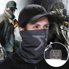 New Quality Watch Dogs Aiden Pearce Cap Cosplay Hat Face Mask Scarf Costume
