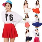 Ladies Girl's Pleated Shorts Skirt Fashion Candy Color mini Skirts 9 Colors