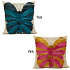 """18"""" (45 cm) Butterfly Faux Silk Sofa Scatter Cushion Cover + FILLED Option"""