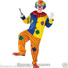 CL375 Mens Big Top Clown Mascot Scary Funny Circus Joker Halloween Costume