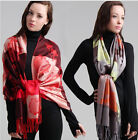 Free Shipping Women's Fashion Pashmina Cashmere Water Lily Shawl Scarf Wrap