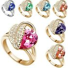 13 Colors Women 17 mm  Austrian Crystals Heart  Rings Fashion Lady