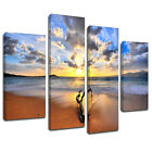 MSC188 Ocean Debris Tree Beach Canvas Wall Art Multi Panel Split Picture Print