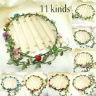 Boho Weave Flower Floral Wedding Festival Party Crown Elastic Hairband Headband