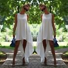 Women's Crew Neck Casual Maxi Sleeveless Cocktail Evening Prom Party Long Dress
