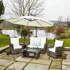 New Rattan Wicker Weave Garden Furniture Patio Conservatory Aluminium Sofa Set