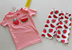 Gymboree Gymmies Girl's Pink Strawberries Best Friends Pajamas Size 6-12 Months