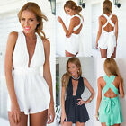 Fashion Womens Sleeveless Jumpsuit Rompers Short Pants Piece Pants New Applied