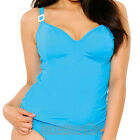 Curvy Kate Swimwear Paradise Underwired Tankini Top Blue CS5006 Select Size