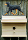 Bird House W/ Black and Tan Coonhound on Peak. Home,Yard & Garden Dog Products.