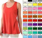 Women's Cotton Loose Fit Tank Top Relaxed Flowy Basic Sleeveless Shirt  S M L