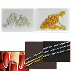 1pc Popular 1mm Gold/Silver Nail Art DIY Design Chain Tiny Line Gadget New