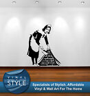 BANKSY MAID ART DECAL DECOR STICKER WALL ART GRAPHIC VARIOUS COLOUR