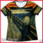 EDVARD MUNCH Scream Cry Suffer Fear TEE T SHIRT FINE ART PRINT PAINTING