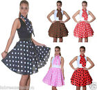 New Ladies Women Crazy Chick Polka Dot Skirts fancy dress 22 inch