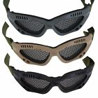 Tactical Outdoor Airsoft Eyes Protect Metal Mesh Pinhole No Fog Glasses Goggles