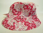 GIRLS I.L.C.K REVERSIBLE WHITE AND PINK FLORAL SUN HAT-85B018