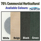 2m & 4m x 50m roll Shade Cloth 70% Density Commercial Grade 200gsm Shadecloth