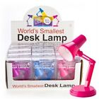 World's Smallest Desk Lamp Book Light LED Purple Blue Pink