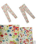 GIRLS WHITE FLORAL BUTTERFLY PRINT JEGGINGS 3,4,5,6,7,8,9,10 YEARS