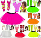 GIRLS NEON TUTU SKIRT SET