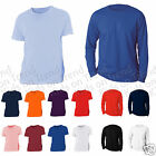 Kids Top Long Sleeve and Short Sleeve T Shirt  Plain 100% Cotton Age 2 -13 Y